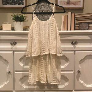 Cute Off White Romper